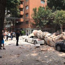 7.1'lik Meksika Depreminin Ardından Sosyal Medyaya Düşen Ürkütücü Görüntüler