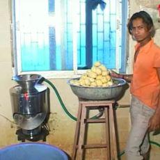 Hindistan'daki Aşırı Hijyen, Sağlık ve Medeniyet İçeren Üst Düzey Patates Cipsi Fabrikası