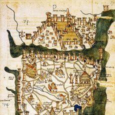 1422 Yılında İtalyan Bir Gezgin Tarafından Çizilen İstanbul'un En Eski Haritası