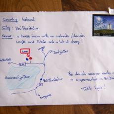 İzlanda Gezisinde Kendilerine Yardımcı Olan İnsanlara Krokili Mektup Gönderen Güzel İnsanlar