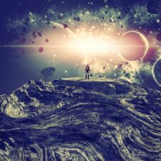 Büyük Patlama'dan Başlayarak Evrenin Tüm Bir Zaman Tünelini İçeren Infografik
