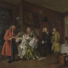 Aristokrat Evliliklerinin Kötü Taraflarını Göstermek İçin Yapılmış Resim Serisi: Marriage A-la-Mode