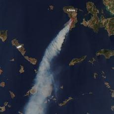 2012'de Sakız Adası'nın 5'te 1'ini Küle Çeviren Büyük Yangın