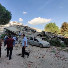 6,6'lık İzmir Depremi'nden Sosyal Medyaya Yansıyan Ürkütücü Görüntüler