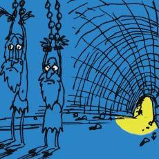 Platon'un Bir Kısım İnsanın Sadece Yansımalarla Yaşadığını Anlattığı Mağara Metaforu