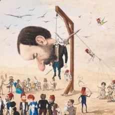 Eleştirdiği İnsanlar Tarafından Öldürülmüş Olarak Kendini Resmeden Osmanlı Bürokratı Yusuf Franko'nun Çizimleri