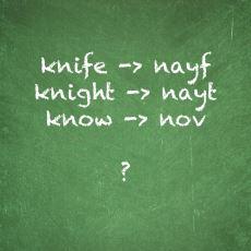 İngilizcede Knife'ın Başındaki K'nin Okunmamasına Sebep Olan Dil Değişimi: The Great Vowel Shift