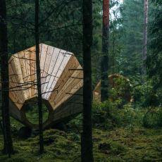 Ormanın Belli Yerlerine Yerleştirilerek Doğanın Muazzam Sesini Duymayı Sağlayan Orman Hoparlörleri