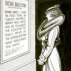 Nereden Nereye: 1930 Yılında Kanada'da Yayınlanan Türkiye Kadın Hakları Karikatürü