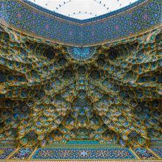 Hipnotize Edici Motif ve Renklerle Döşenmiş, İşçilik Şaheseri İran Cami Tavanları