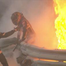 F1 Pilotu Romain Grosjean, Bahreyn'deki Korkunç Kazadan Nasıl Kurtuldu?