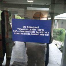 Orta Doğu Teknik Üniversitesi'nde Tuvaletlerdeki Cinsiyet Ayrımı Kaldırıldı