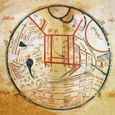 Kaşgarlı Mahmud'un Divan-u Lugati't Türk'te Yayınladığı İlk Türk Dünya Haritası