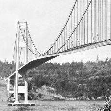 1940 Yılında Çarşaf Misali Salınarak Çöken Köprü: Tacoma Narrows