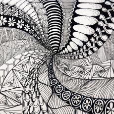 Uğraşırken Kafanızı Boşaltmanızı Sağlayan Soyut Çizim Yöntemi: Zentangle