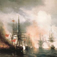 Yelkenli ve Ahşap Gemileri Savaş Sahnesinden Silen Tarihi Olay: 1853 Sinop Baskını