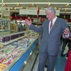 Boris Yeltsin'in Sovyetlerde Sosyalizmin Tamamen Yıkılmasına Sebep Olan ABD Market Ziyareti