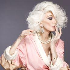 85 Yaşıyla Halen Güzelliğinden Ödün Vermeyen ve Podyumların Tozunu Attıran En Yaşlı Manken: Carmen Dell'Orefice