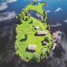Finlandiya'nın Rovaniemi Şehrinde Bulunan Bir Adanın Büyüleyici Güzellikte 4 Mevsim Fotoğrafları