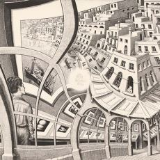 """Hollandalı Sanatçı Escher'in Ünlü Eseri """"Resim Galerisi""""nin Anlattığı Beyin Yakan Paradoks"""