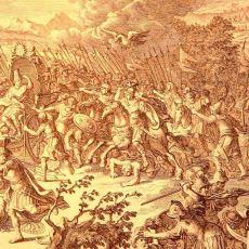 Büyük İskender'in, Sayıca Üstün Olan Persleri Darmadağın Ettiği Gaugamela Savaşı