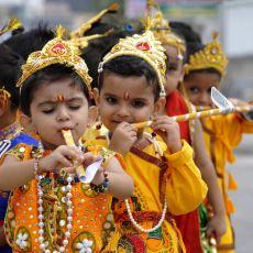 Hindular Tarafından Kutlanan Janmashtami Festivali'nden Çocukların Masallardan Çıkmış Gibi Görünen Fotoğrafları