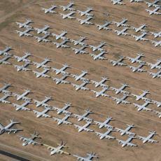 Amerika'da Emekliye Ayrılmış Uçakların Depolandığı Dev Uçak Mezarlığı