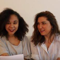 Türk Anneye Sahip Yarı Karayipli Kızın Annesiyle Olan Komik Tekerleme Çalışması