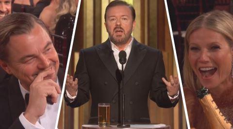 Ricky Gervais'in 77. Altın Küre Ödülleri'ndeki Olay Yaratan Konuşması