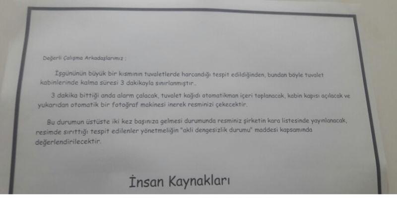 Kafayı Tuvalette Fazla Kalan çalışanlarına Takmış şirketin Acayip