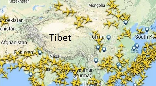 Uçaklar Neden Tibet'in Üzerinden Uçmaz veya Uçmak İstemez?