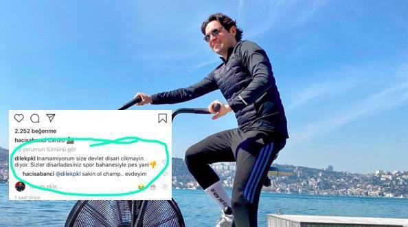 """Hacı Sabancı'nın Instagram'daki """"Sakin Ol Champ.. Evdeyim"""" Yanıtına Düşündüren Bir Eleştiri"""