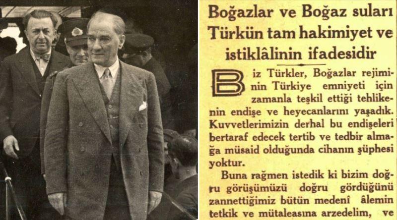 Atatürk'ün Montrö Boğazlar Sözleşmesi İmzalanmadan Önce Yayınlattığı Gazete  Yazısı - Ekşi Şeyler